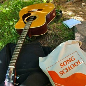 Song School bag and guitar