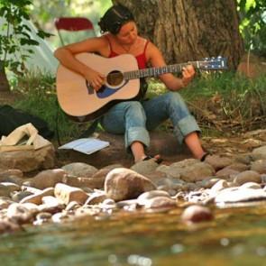 Song School Classic river guitar girl