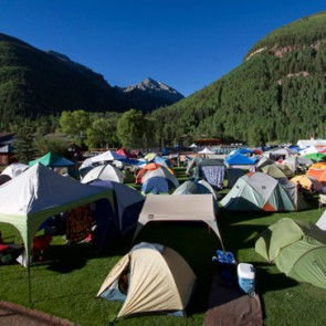 Warner Field tents