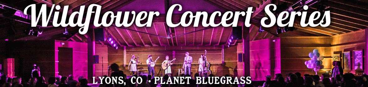 Tix onsale for the Wildflower Concert Series in Lyons, CO